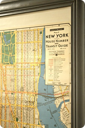 DIY NYC map art