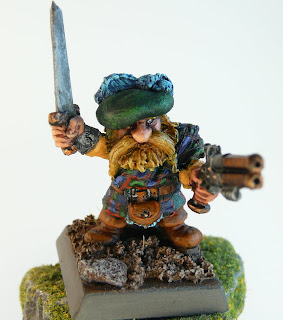 Dwarf Noble with Double Barrel Pistol