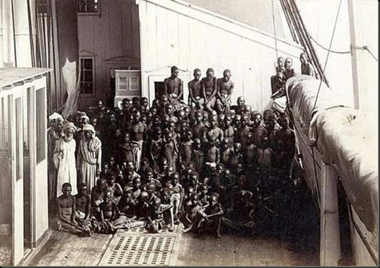 Last slavery ship to Brazil, end of 19th century.