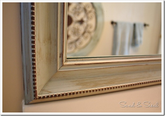 Sand and Sisal: Painted Mirror~ Using Paint & Glaze to Enhance Details