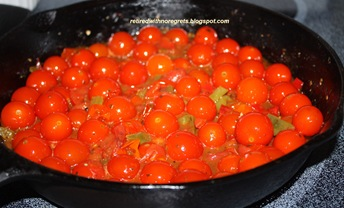 Cherry Tomato Pasta Sauce - cooking tomatoes B
