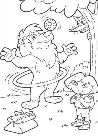 desenhar Dora a aventureira Passeando e colorir