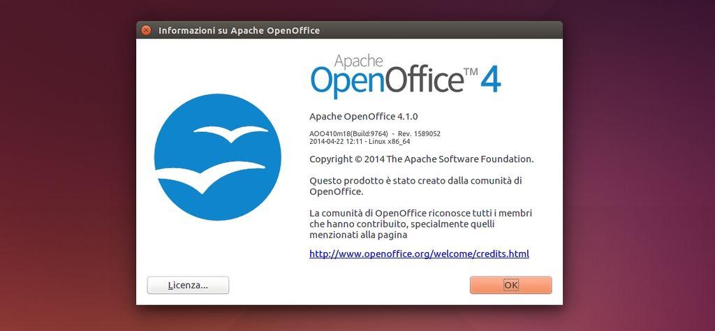 Apache OpenOffice 4.1.0 in Ubuntu Linux