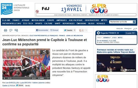 Mélenchon France24