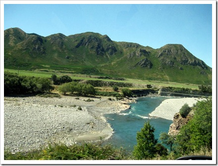 View from the Waiau River bridge.