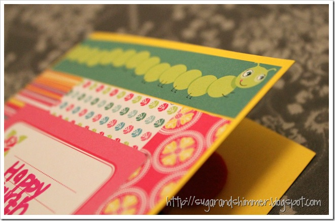 Girly Birthday Card_details
