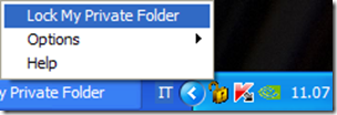 Microsoft Private Folder chiudere programma