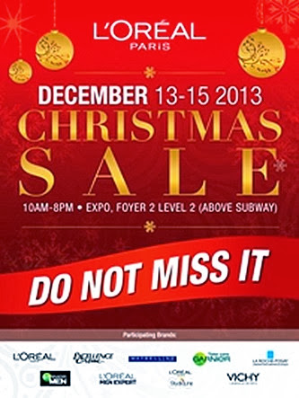 L'OREAL WAREHOUSE SALE 2014 SINGAPORE EXPO OFFERS BEAUTY SKINCARE VICHY LA ROCHE-POSAY  L'OREAL COSMETICS MAYBELLINE GARNIER REDKEN MATRIX
