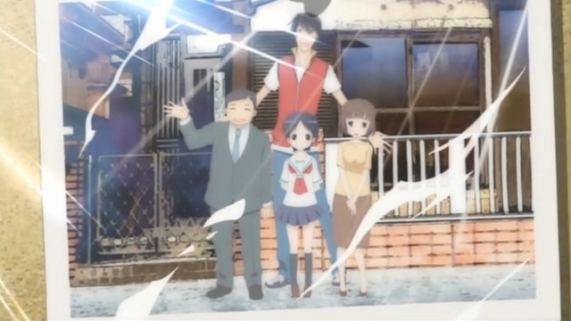 A photo showing the entire Miyagawa family in front of their house