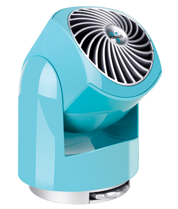 The fan also comes in a smaller model, which makes a perfect desk fan. It also comes in some great, bright colors.  (vornado.com)
