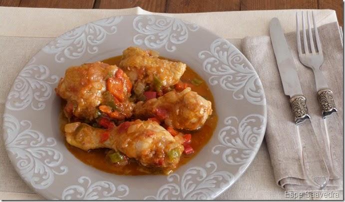pollo pimientos tomates espe saavedra