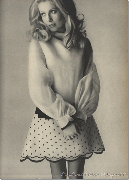 Catherine Deneuve photographed by David Bailey for Vogue, 1968