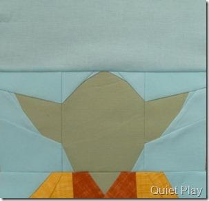 Paper pieced LEGO Yoda