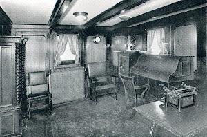 CAMPOMANES, salón del Capitán. THE MOTOR SHIP. Julio de 1932