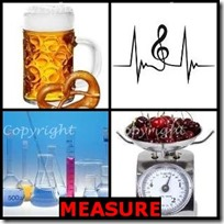 MEASURE- 4 Pics 1 Word Answers 3 Letters