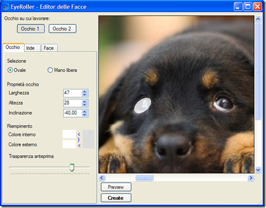 EyeRoller Editor delle Facce