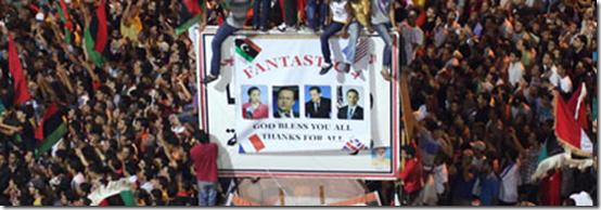 """Libia in festa """"ringrazia"""" gli alleati ..."""