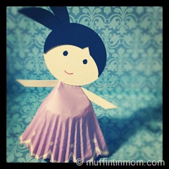 paper cupcake liner doll