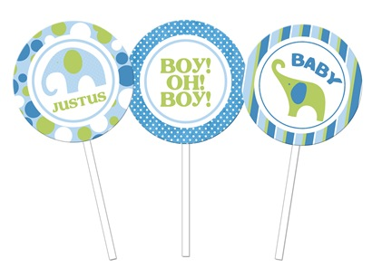 Justus elephants  cupcake toppers copy