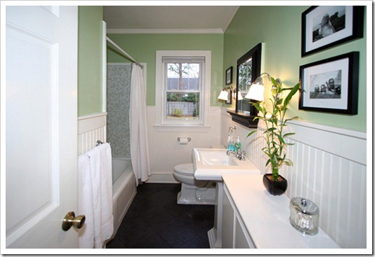 Beadboard Bathroom - Our Cape Cod House