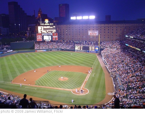 'Camden Yard, Baltimore' photo (c) 2008, James Willamor - license: http://creativecommons.org/licenses/by-sa/2.0/