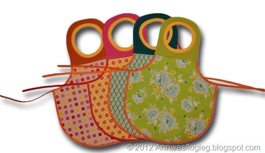 Tutorial apron with rib neckline