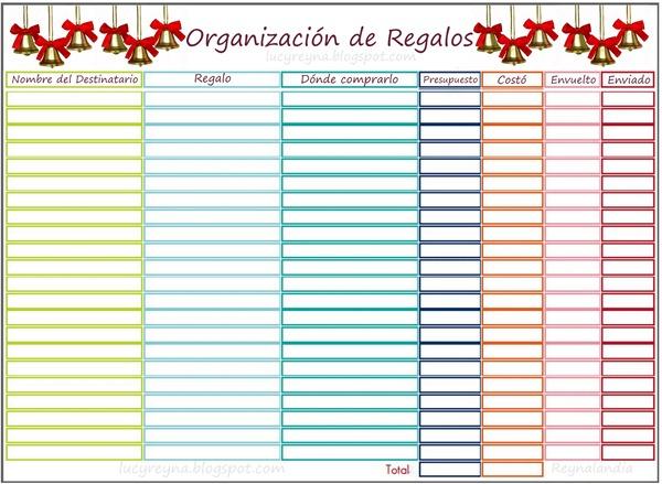Lista para organizar regalos navideños navidad DIY-001
