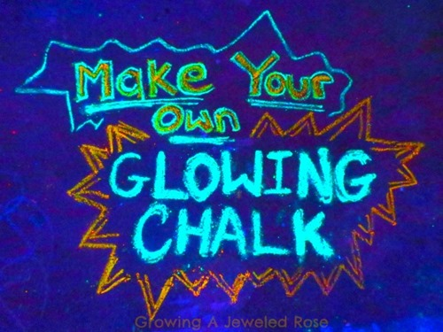 Make your own glowing chalk 00