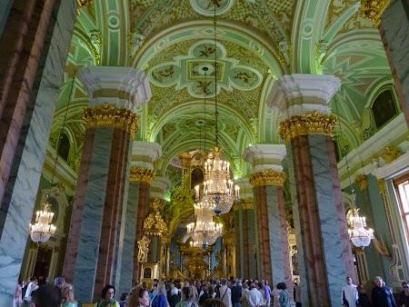 Circuit Rusia: Interior biserica Sf. Petru si Pavel - St. Petersburg