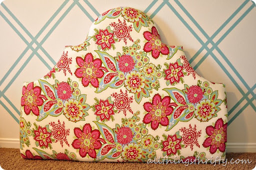 how to make a full size fabric headboard 1