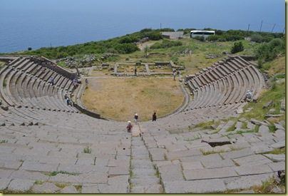 Assos view inside theatre