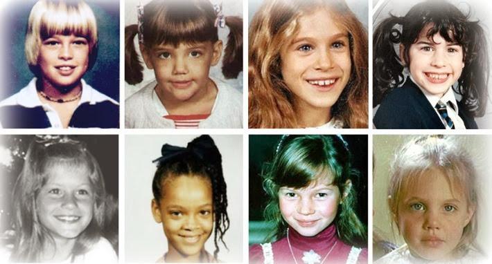 celebridades quando eram criancas