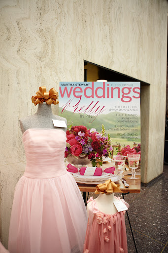 Bridesmaid dress by Cynthia Rowley for Dessy and a flower girl dress by Ash & Robbins.