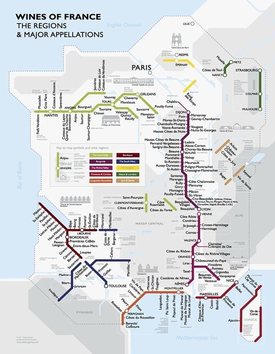 mapa dels vins dins l'Estat francés