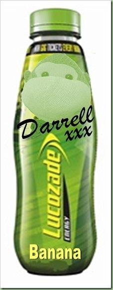 Darrells Lucozade bottle