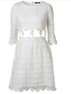 white daisy chain shift dress top shop