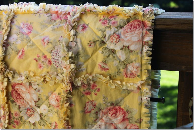 Yellow Rag Quilt 042