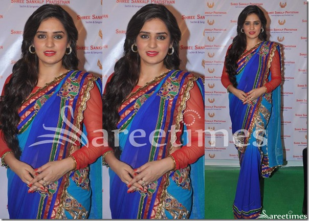 Blue_Dual_Color_Saree