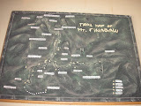 Map of Kinabalu at the Park entrance (Daniel Quinn, July 2011)