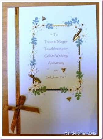 Gardening Golden Wedding Anniversary card