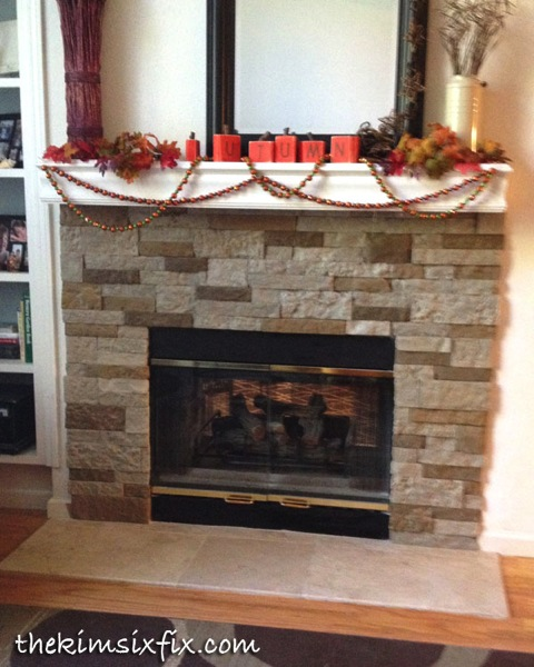 Final airstone fireplace