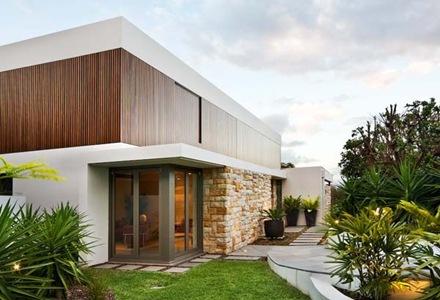 Mosman-House-fachadas-de-madera-y-piedra