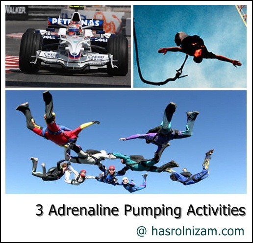 adrenaline pumping