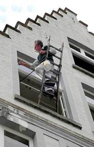 Invenção Perigosa - Trabalhando com escada - Profissão perigo - muito arriscado 07