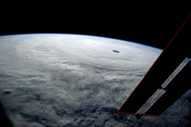 NASA astronaut Reid Wiseman tweeted an image of Super Typhoon Vongfong in the western Pacific Ocean from the International Space Station on 9 October 2014, commenting, 'I've seen many from here, but none like this.' Photo: Reid Wiseman / NASA