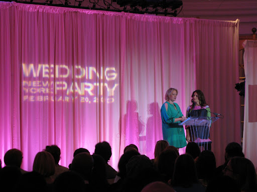 Co-owners of the Wedding Library Claudia Hanlin and Jennifer Zabinski kick the event off by introducing myself and Colin Cowie, who was also a guest speaker today.