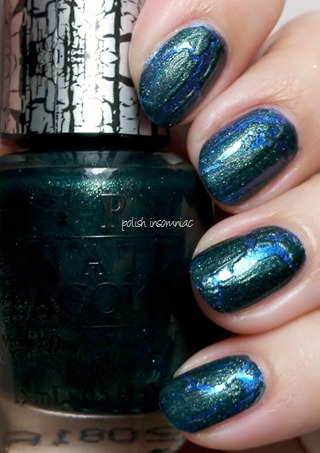 OPI Green Shatter over Into the Night