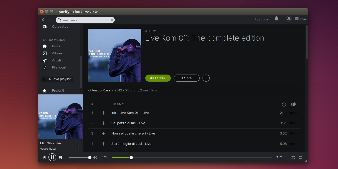 Spotify Client in Ubuntu