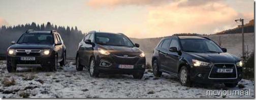 Dacia Duster - Hyundai ix35 - Mitsubishi ASX 02