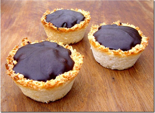 Rosewater Rice and Chocolate Coconut Tarts